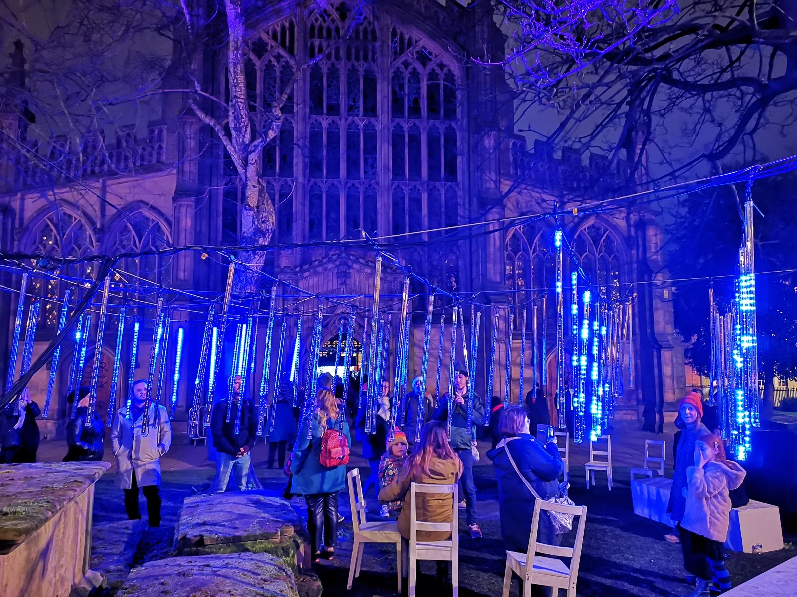 Saint Mary's Churchyard on Light Night 2020 - Claire Jones | Visit Nottinghamshire