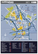 Nottingham city centre map 2019 thumbnail