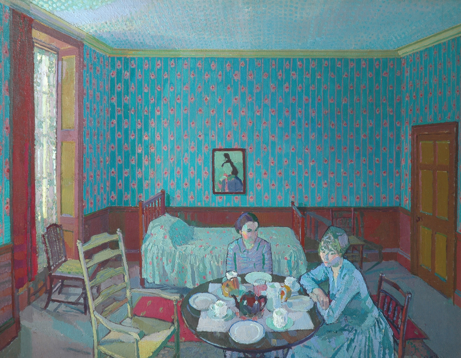 Tea in the Bedsitter 1916 Harold Gilman