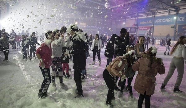 Festive Foam party at the Nationa Ice Centre | Visit Nottinhamshire