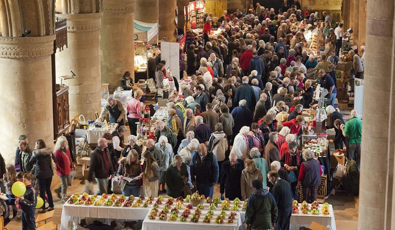 Bramley Apple Festival Food and Drink Fair at Southwell Minster
