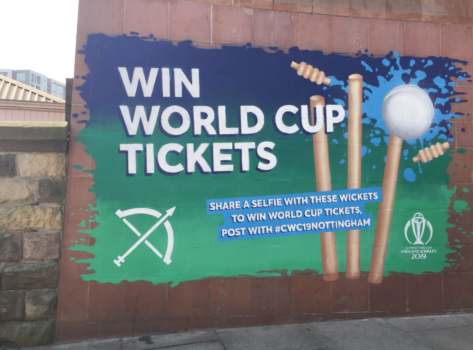 Wickets Mural Visit Nottinghamshire