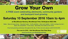 Grow Your Own & The Scrumptious Sherwood Bake Off