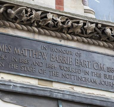 JM Barrie Plaque Nottingham