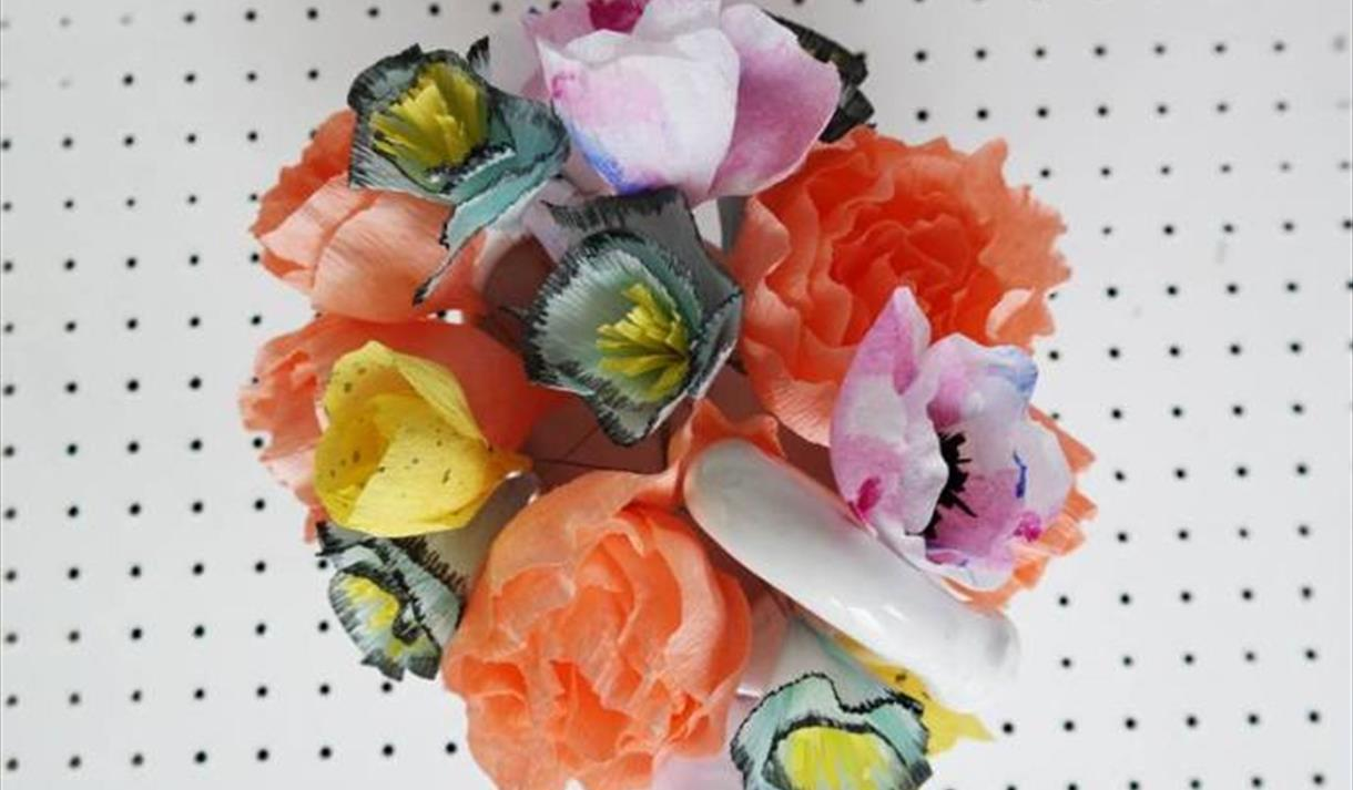 Paper Flower Bouquet And Garland Making With Super And Super Visit