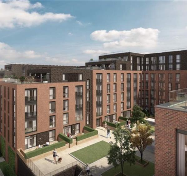 An artist's impression of the new Saffron Court development in Nottingham