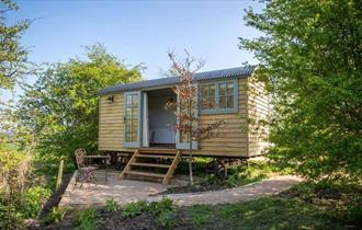 Shepherd Huts at the Carriage Hall