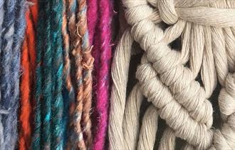 Mayflower Macrame Keyrings - family arts workshop at Mansfield Central Library