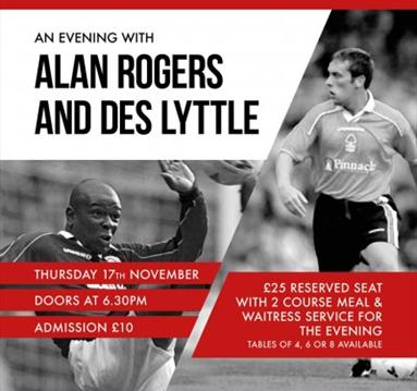 An evening with Alan Roger and Des Lyttle at The Southbank Bar West Bridgford
