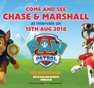 See CHASE and MARSHALL from PAW PATROL at Robin Hood's Wheelgate Park