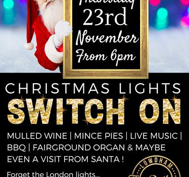Christmas Light Switch On at The Railway