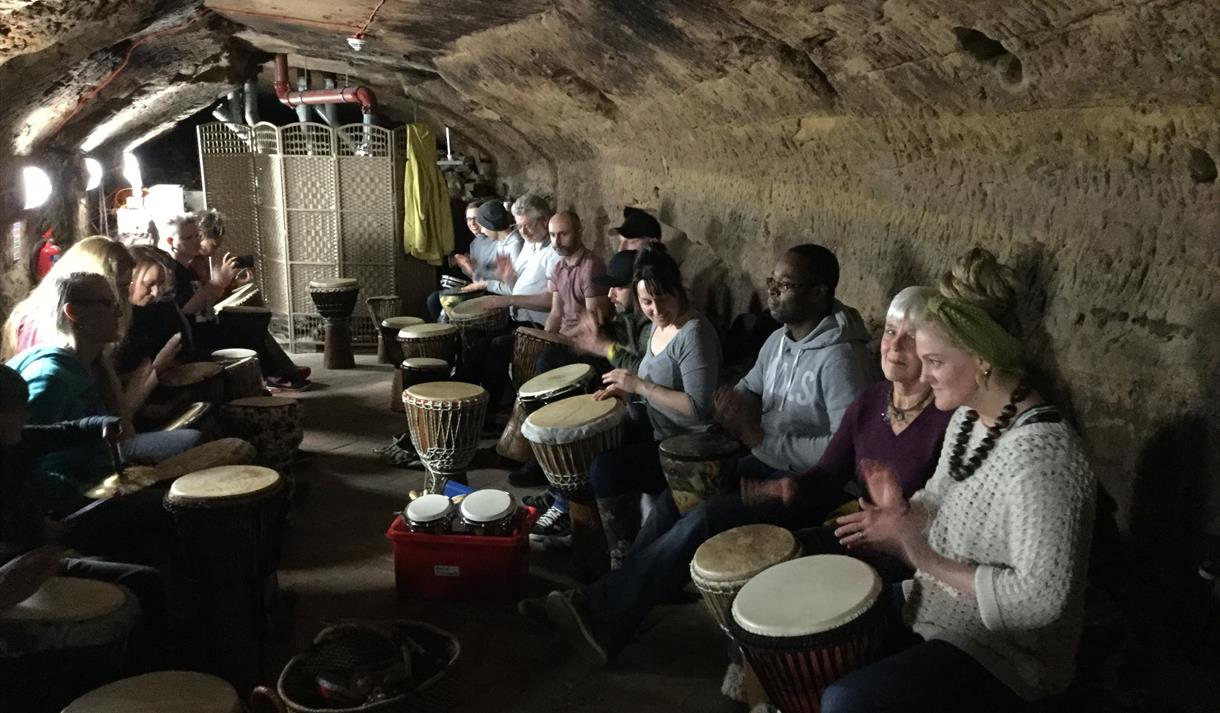 Malt Cross Andy's Drum Circle at Cave City 2019: Nottingham Underground Festival