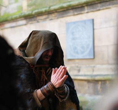 Robin Hood and The Monk at St Mary's Church, Nottingham