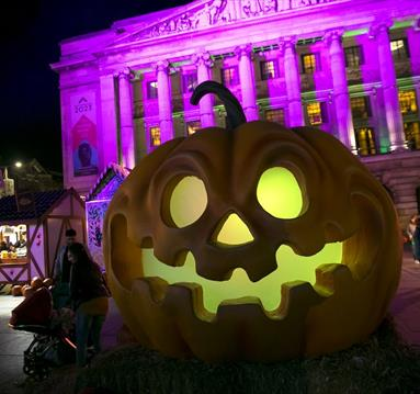 Halloween in Old Market Square, Nottingham