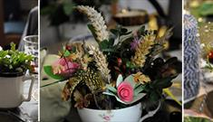 Crafternon: Floral Tea Cup Arrangement, £20
