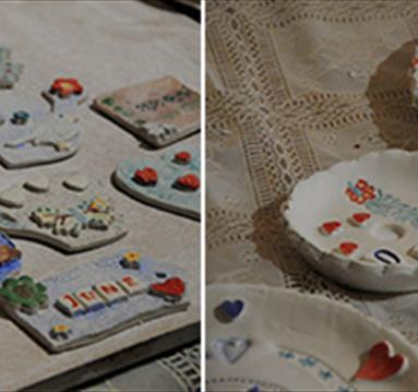 Crafternoon: Trio of Ceramic Brooches, £25