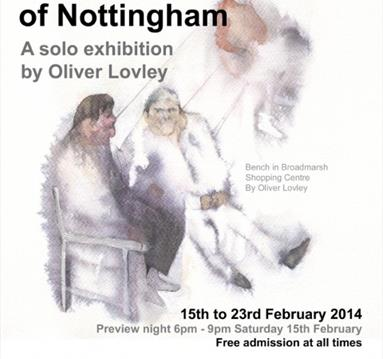 Water Colour Paintings of Nottingham: A Solo Exhibition by Oliver Lovley