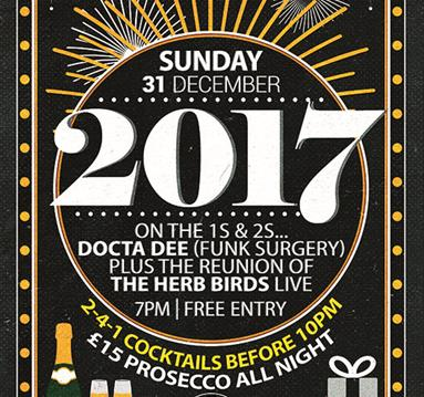 New Years Eve 2017 at The Southbank Bar (Trent Bridge)