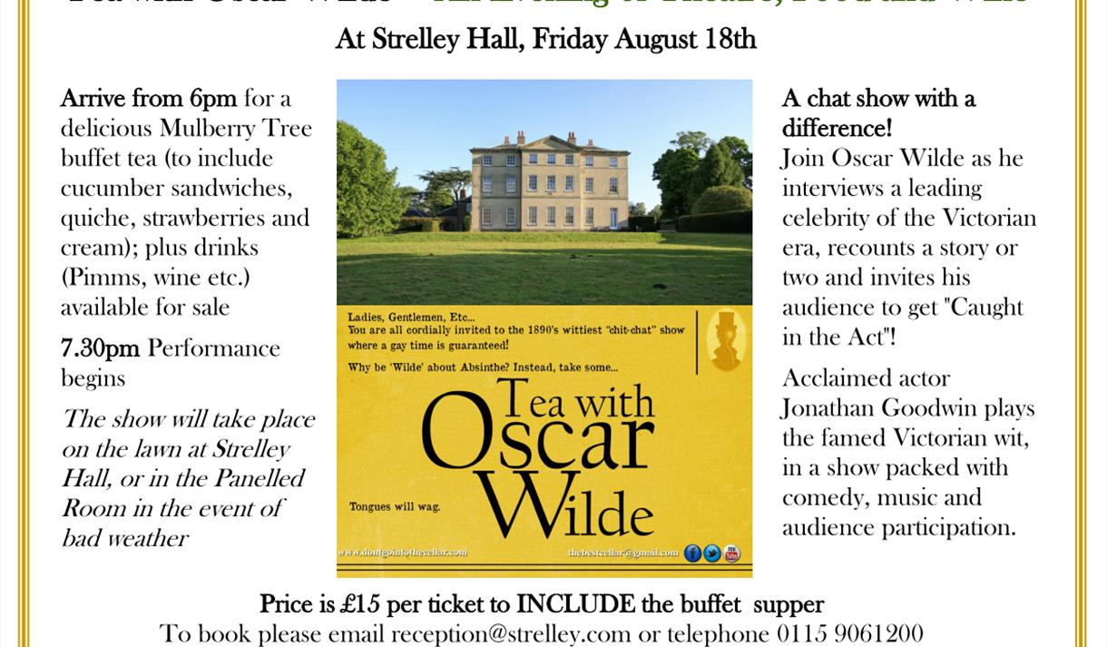 Evening of Theatre, Food and Wine at Strelley Hall