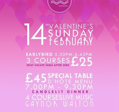 Valentine's at Riverbank Bar and Kitchen