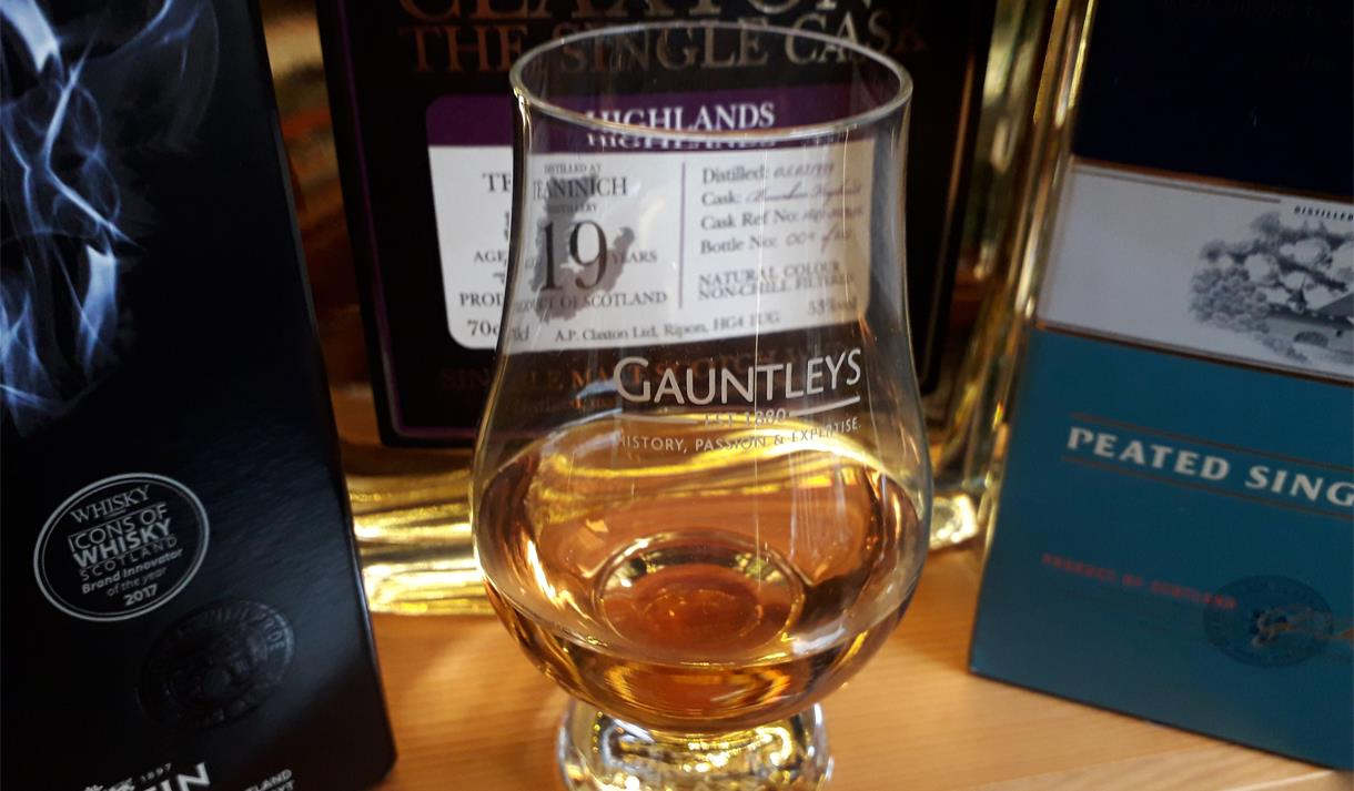 Whisky tasting at Gauntlys of Nottingham