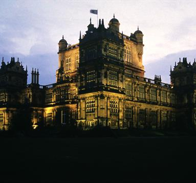 Wollaton Hall at night