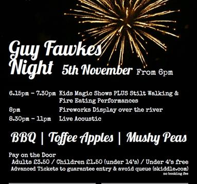 Guy Fawkes Night at Riverbank