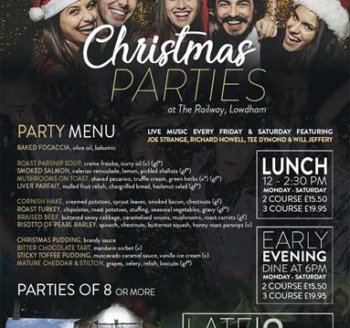 Christmas Parties at The Railway
