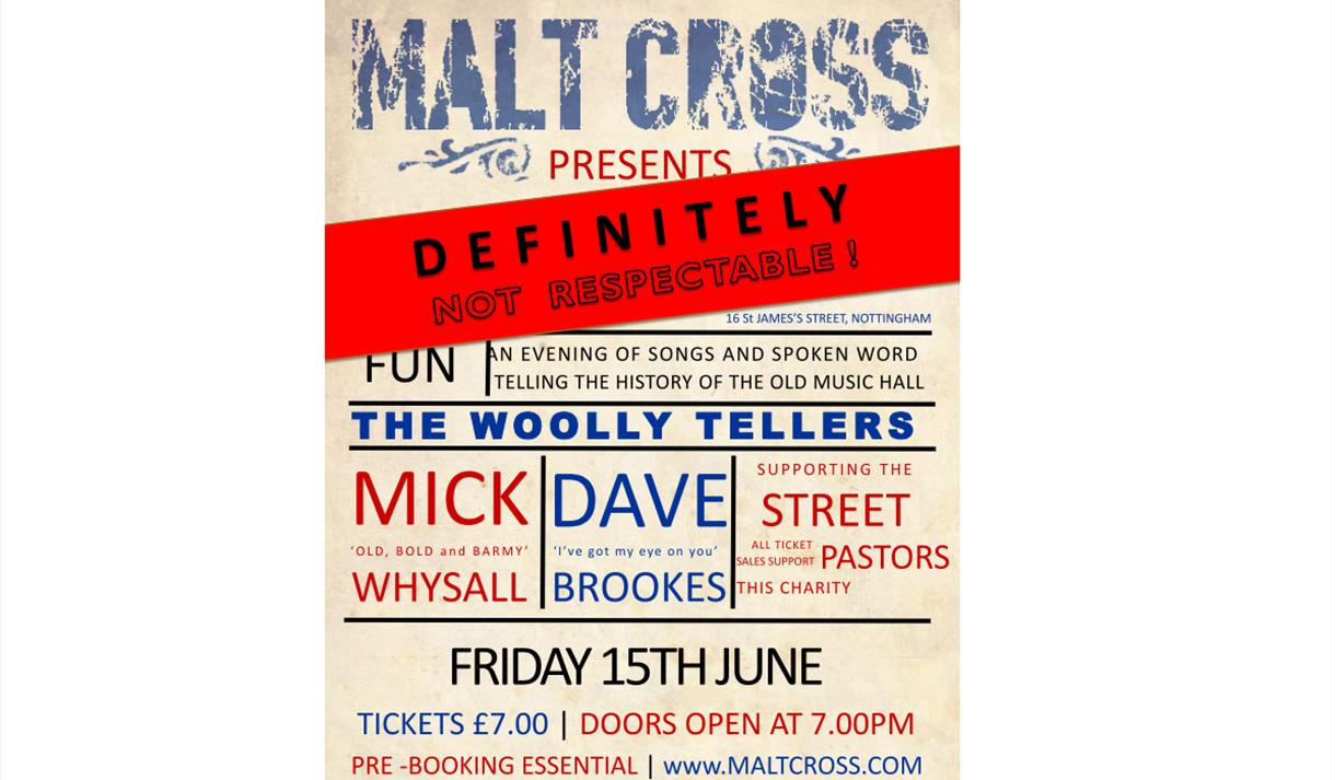 The Woolly Tellers - 'Definitely Not Respectable' at the Malt Cross