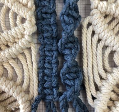 Mayflower Macrame Keyrings - family arts workshop at Worksop Library