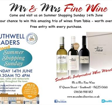 Summer Shopping Sunday at Mrs & Mrs Fine Wine