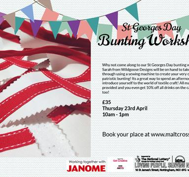 St George's Day Bunting Workshop